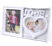 """Рамка для фото пластмассовая на 2 фото """"Love"""" (37,5х22,5 см)"""
