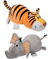 """Мягкая игрушка """"Вывернушка. Тигр-слон"""" (35 см)"""