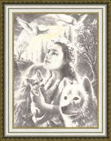 "Вышивка крестом ""Эпоха волка"" (459х334 мм)"