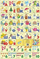 Разрезная азбука и счет для девочек
