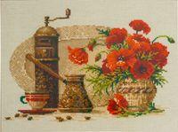 """Вышивка крестом """"Кофе"""" (арт. 1121)"""