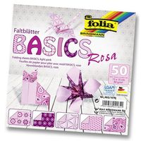 Бумага розовая для оригами (150х150 мм; 50 листов)
