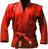 Куртка для самбо JS-302 (р. 4/170; красная)
