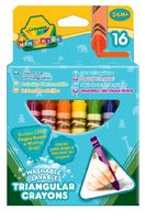"""Мелки восковые """"Crayola. Смываемые треугольные"""" (16 цветов; арт. 52-016T)"""