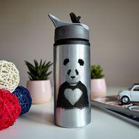 "Бутылка для воды ""Панда с любовью"" (600 мл; металлик)"