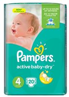 "Подгузники ""Pampers Active Baby-Dry Maxi"" (8-14 кг, 20 шт; арт. 0001010637)"