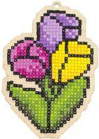 """Алмазная вышивка-мозаика """"Брелок. Букет тюльпанов"""" (77х111 мм)"""