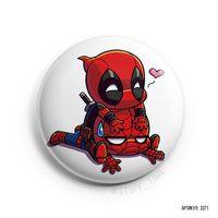 """Значок маленький """"Дэдпул и Человек-паук"""" (арт. 371)"""