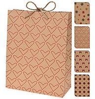 Пакет бумажный подарочный (в ассортименте; 18х8х23 см; арт. AAB100010)