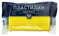 Пластилин восковой (60 г; ярко-желтый)