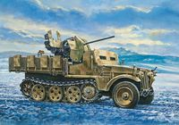 """Бронемашина """"Sd. Kfz.10/5 Demag D7 with FLAK 38"""" (масштаб: 1/35)"""