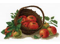 """Вышивка крестом """"Натюрморт с яблоками"""" (390x250 мм)"""