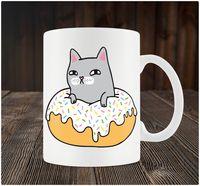 """Кружка """"Котик в пончике"""" (art. 64)"""