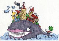 """Вышивка крестом """"Рыба кит"""""""