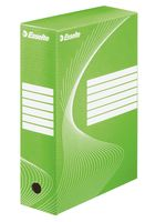 Коробка архивная Esselte (зеленая, 80 мм)