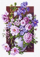 """Канва с нанесенным рисунком """"Букет цветов"""""""