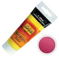"""Краска акриловая матовая """"Solo Goya Basic"""" 52 (100 мл; рубиновый красный; перламутровый эффект)"""