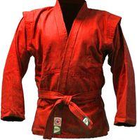 Куртка для самбо JS-302 (р. 6/190; красная)
