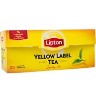 "Чай черный ""Lipton. Yellow Label"" (25 пакетиков)"