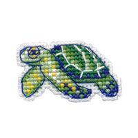 "Вышивка крестом ""Значок. Черепаха"" (49х29 мм)"