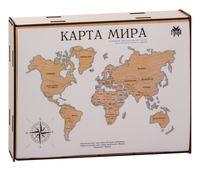 """Пазл деревянный """"Карта мира"""""""