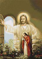 """Вышивка крестом """"Иисус стучащийся в дверь"""" (310х425 мм)"""