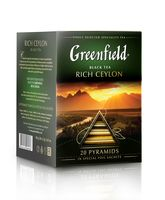"Чай черный ""Greenfield. Rich Ceylon"" (20 пакетиков)"