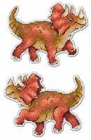 """Вышивка крестом """"Динозавры. Трицератопс"""" (90х120 мм)"""