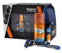 """Подарочный набор """"Fusion ProGlide"""" (станок, гель, бальзам, сумка)"""