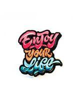 """Значок деревянный """"Enjoy your life"""""""