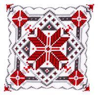 """Вышивка крестом """"Подушка. Снежинка"""" (400х400 мм; арт. 0146120-PN)"""