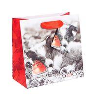 """Пакет бумажный подарочный """"Щенок"""" (16,5x16,5x9,2 см)"""