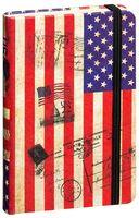 "Записная книжка в линейку ""Флаги мира. США"" (А6)"