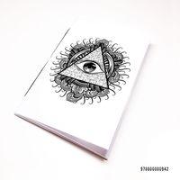 """Блокнот белый """"Всевидящее око"""" А7 (942)"""