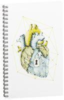 """Блокнот в клетку """"Сердце"""" (A5; арт. 719)"""