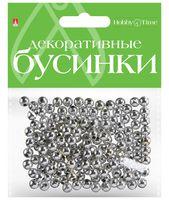 Набор бусин декоративных (6 мм; серебряные)