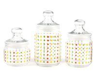 """Набор банок для сыпучих продуктов """"Color Art"""" (3 шт.)"""