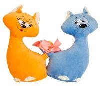 """Мягкая игрушка """"Влюблённые коты"""" (40 см)"""