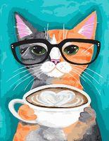 """Картина по номерам """"Позитивный кот"""" (400х500 мм)"""