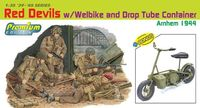 """Набор миниатюр """"Red Devils w/Welbike and Drop Tube Container, Arnhem 1944"""" (масштаб: 1/35)"""