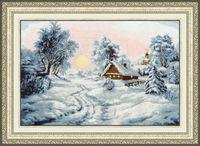 """Вышивка крестом """"Зимнее утро"""""""