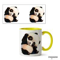 """Кружка """"Панда"""" (арт. 509, желтая)"""
