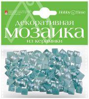 Мозаика декоративная из керамики №27 (8х8 мм; 100 шт.; морская волна)