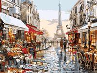 """Картина по номерам """"Париж для двоих"""" (300х400 мм)"""
