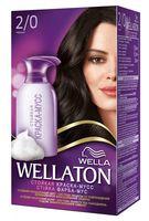 """Краска-мусс для волос """"Wellaton"""" (тон: 2/0, черный)"""