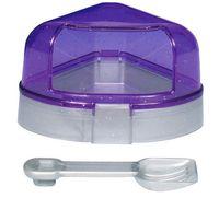 Туалет для грызунов с крышкой (14х8х11/11 см)