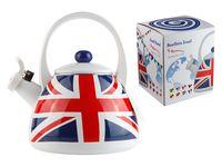 """Чайник стальной эмалированный """"UK Flags"""" (2 л)"""