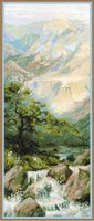 """Вышивка крестом """"Горная река"""" (арт. 1543)"""