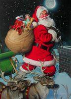 """Канва с нанесенным рисунком """"Рождественский гость"""""""