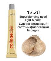 """Крем-краска для волос """"CollageClair Superblonding Color Creme"""" (тон: 12/20, суперосветляющий светлый фиолетовый блондин)"""